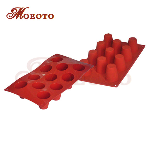 11-Cavity Cake Chocolate Baking Pans Silicone Baking Tray Chiffon Mini Cake Mold Pudding MoldsCake Bakeware tools - shopADON