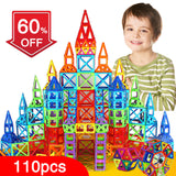 110pcs Mini Magnetic Designer Construction Set Model & Building Toy Plastic Magnetic Blocks Educational Toys - shopADON