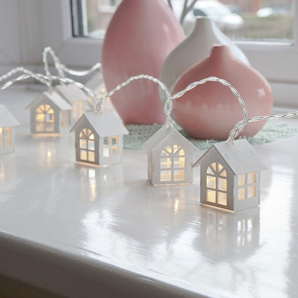 House Shaped Led String Light for Indoor Decoration, Girl's Room Decorative String Lights Wedding PartyXmas  Garland 1.65M 10LED - shopADON