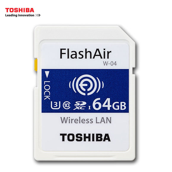 TOSHIBA W-04 Memory Card Wireless LAN 64GB 32GB 16GB WI-FI SD Card U3 UHS Speed Class 3