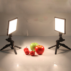 Video Studio LED Camera Light LCD Display Bi-Color Dimmable - shopADON