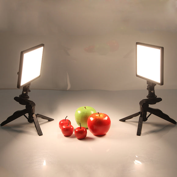 Video Studio LED Camera Light LCD Display Bi-Color Dimmable