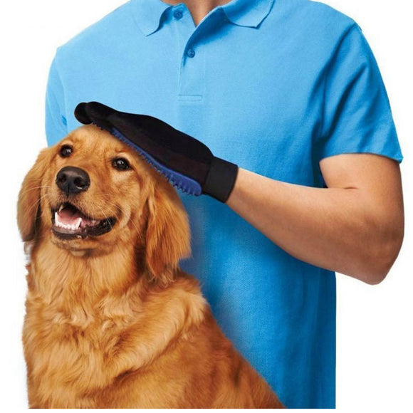 Silicone dog Glove Gentle Efficient Pet Grooming Dogs Bath Pet Supplies - shopADON