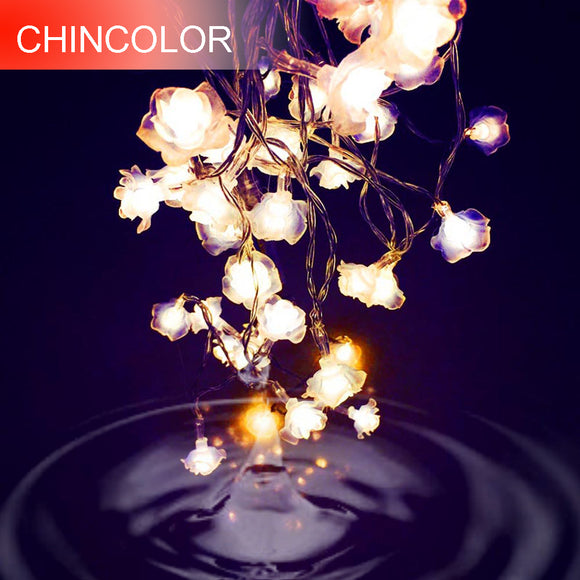 Love Rose LED String Lighting 10-20leds nightlight 9 Colors Valentine' Day Flower Party Wedding Christmas Fairy Decor SW - shopADON