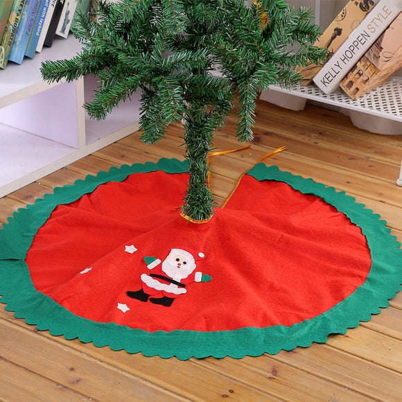 90cm 1Pc Santa Claus Tree Skirt Christmas Tree Skirt Christmas Tree