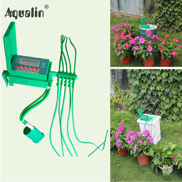 Automatic Micro Home  Drip Irrigation Watering Kits System Sprinkler with Smart Controller - shopADON
