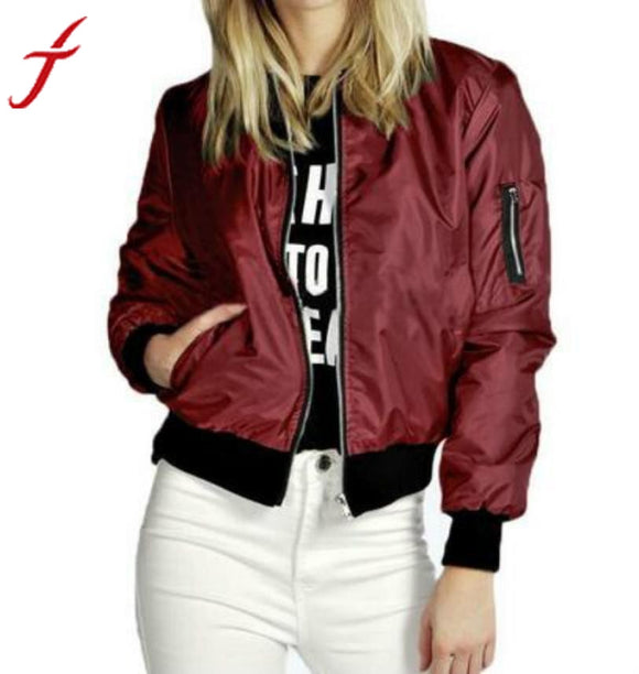 Fashion Coat Women Slim Biker Motorcycle Soft Zipper Short Coat Jacket - shopADON