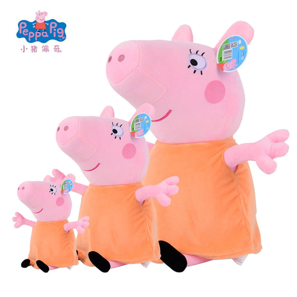 Genuine Peppa Pig Mother 19/30/46cm Kawaii Plush Animal Bedding Sleeping Pillow Case - shopADON