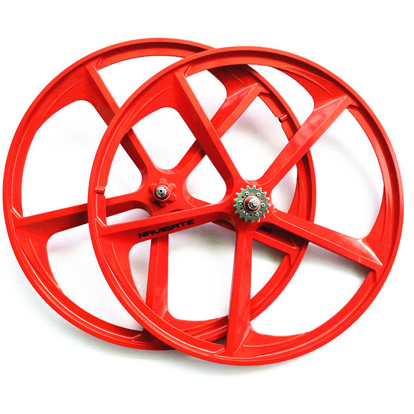 1 pair magnesium alloy single speed fixed gear bike wheels 700C road racing - shopADON