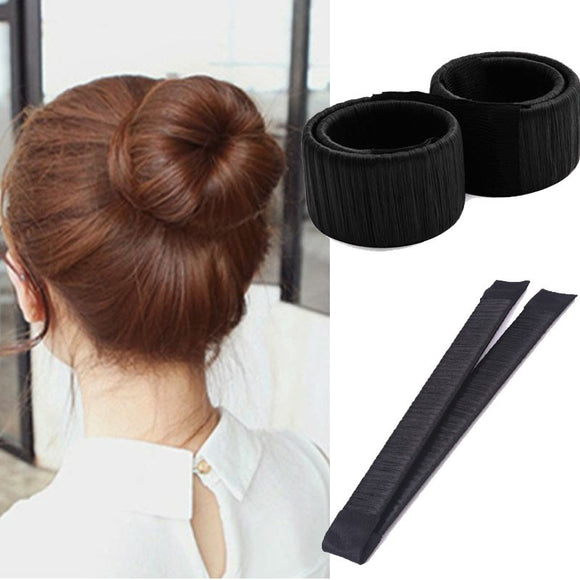 2pcs Hair Styling Hair Bun Maker Clip Curler Roller Tool Hair  Girl Ladies - shopADON