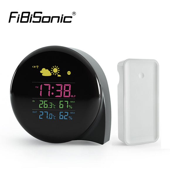 Wireless Weather Station Clocks LCD Thermometer Smart Calendar Alarm Clock