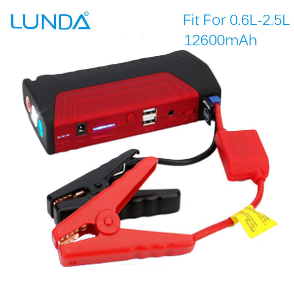 Portable 12v Car Jump  Starter Auto Battery Booster Power Bank - shopADON