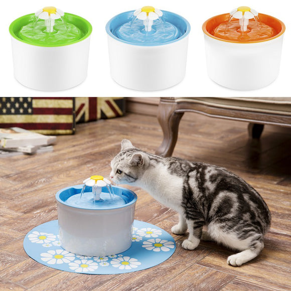 Automatic Pet Feeder Cat Dog Electric Fountain Bowl Drinking Water Dispenser - shopADON