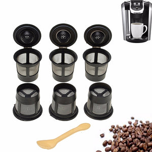 6Pcs Reusable Coffee Pod Filters Mesh Holder Replacements for Keurig K-Cup - shopADON
