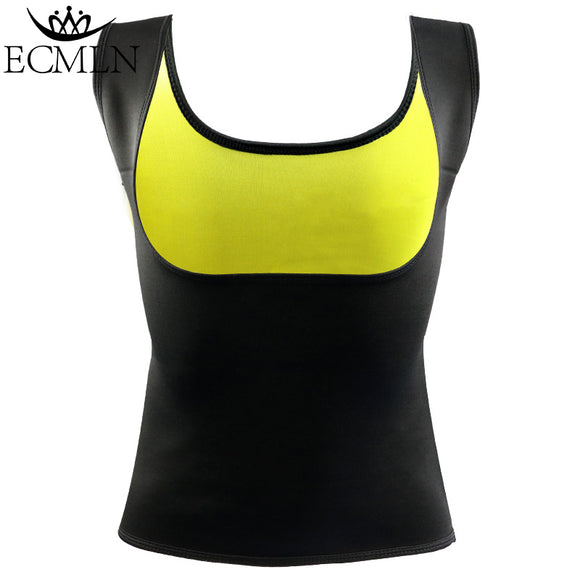 Women Clothes Neoprene T-Shirt Tops New Fashion Body Shapers Slimming Vest - shopADON