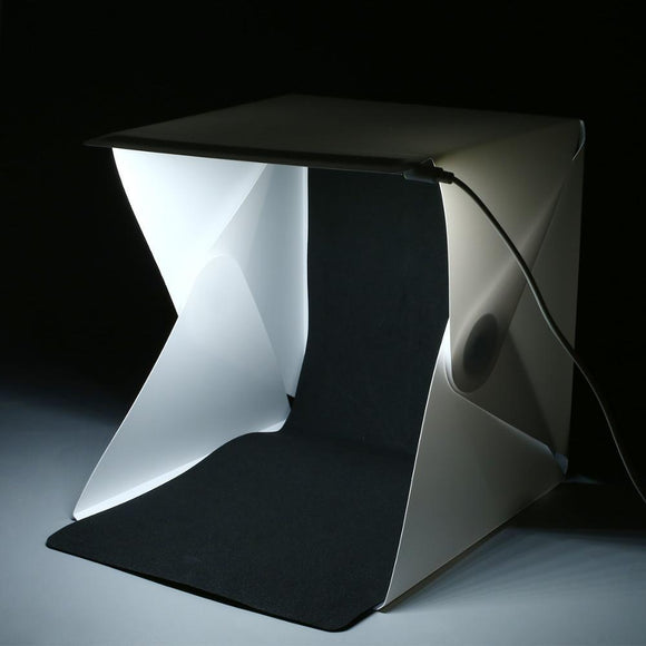 Portable Folding Lightbox Photography Photo Studio Softbox LED Light Soft Box - shopADON