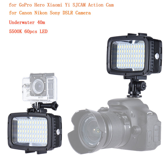 LED Light Diving Underwater Video Lights for Action Cam/DSLR Cameras