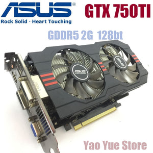 Asus GTX-750TI-OC-2GB GTX750TI GTX 750TI 2G D5 DDR5 128 Bit PC Desktop  Graphics Cards - shopADON