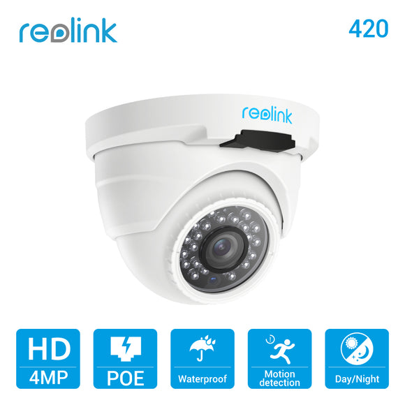 Reolink IP Camera PoE 4MP 2560*1440P IP66 Waterproof Indoor Outdoor Dome Security Camera with Audio - shopADON