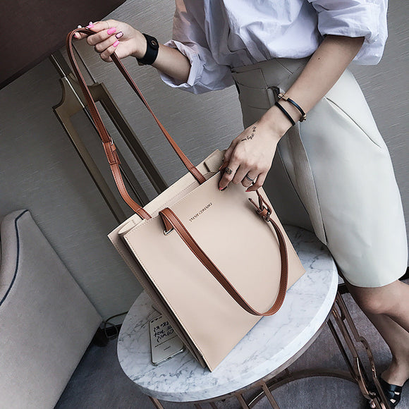 woman bag, trend handbags, solid color women bag, leisure shoulder bag.