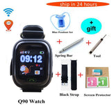 GPS Q90 kids Children baby Smart baby Watch CLOCK SOS Call GPS WIFI Location Tracker Kid Safe Anti Lost Monitor smart watch - shopADON