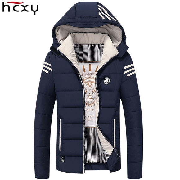 HCXY Men Winter Jacket 2017 Brand Casual Mens Jackets And Coats - shopADON