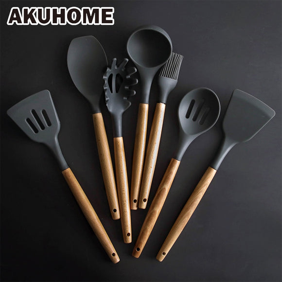 Silicone Spatula Heat-resistant Soup Spoon Non-stick Special Cooking Shovel Kitchen Tools - shopADON