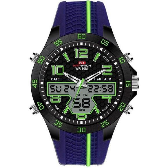 Men's Sport Watch Silicone Military Digital Waterproof Watch - shopADON