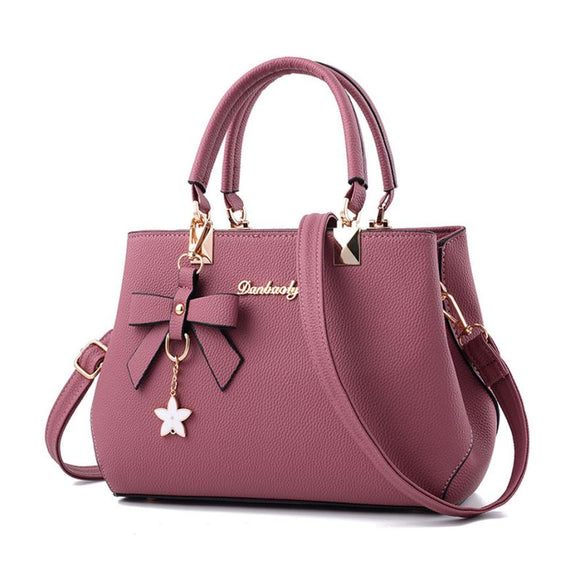 Ladies leather five-pointed star shoulder bag Messenger bag handbag - shopADON