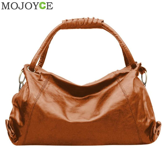 Leather Bags Handbags Ladies Portable Shoulder Bag Office Ladies Hobos Bag Totes - shopADON