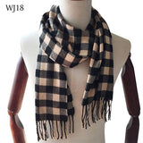 Winter Scarf 2018 Cashmere Scarf Plaid Blanket Scarf New Designer men wool