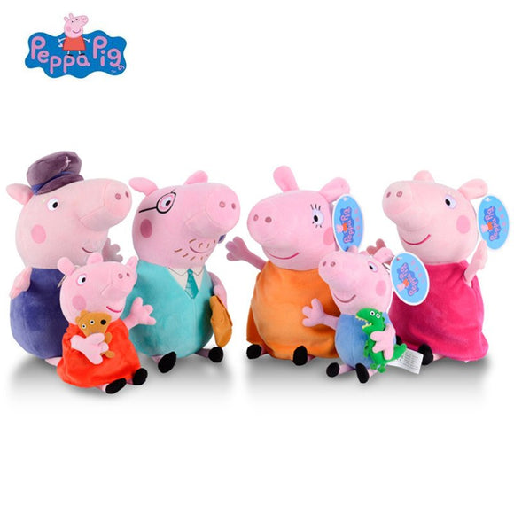 Peppa Pig Stuffed Plush Toys 19/30cm Peppa George Pig Family Party Dolls For Girls Gifts Animal Plush Toys Original Brand - shopADON