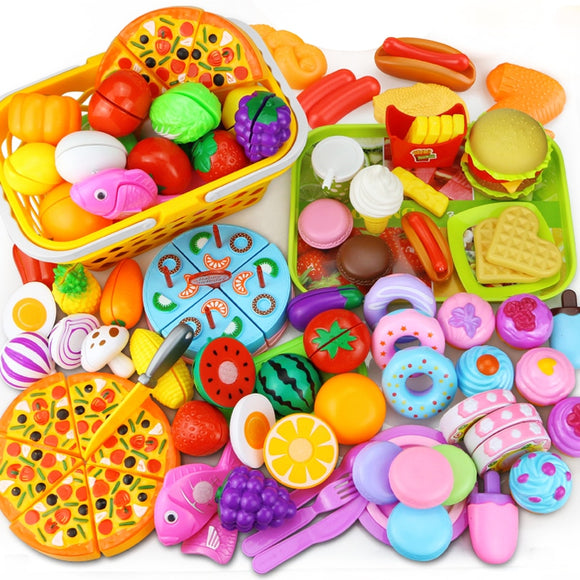 12-31PCS Cutting Fruit Vegetable Food  Kawaii Educational Toys Gift for Girls - shopADON