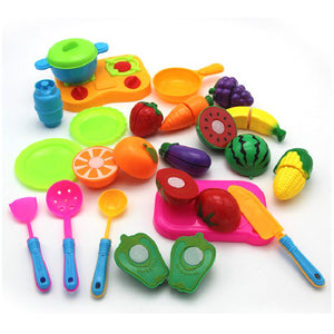 Kitchen Toys For Girls Plastic Food Toy Fruit Vegetable Cutting Kids  Play Educational Toy Play Food - shopADON