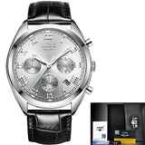 2018 New LIGE Top Luxury Brand Watches Mens Leather Quartz  Waterproof - shopADON
