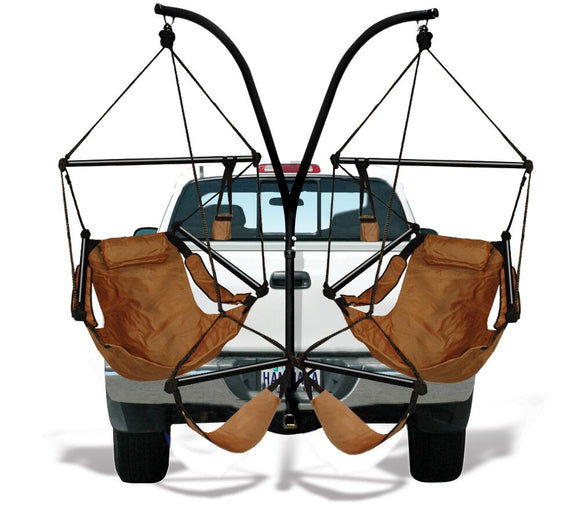 Hammaka Trailer Hitch Stand and Natural Tan Hammaka Chairs Combo - shopADON