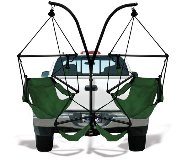 Hammaka Trailer Hitch Stand and Hunter Green Hammaka Chairs Combo - shopADON