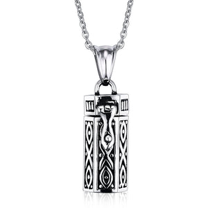 Men's Necklace Geometric Shape Stainless Steel