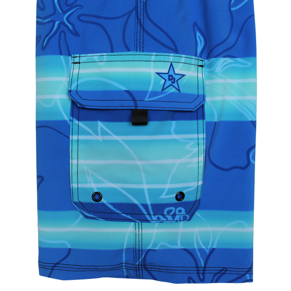 Cool Blue 4-Way Stretch Board Short