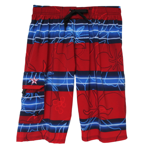 Ready in Red 4-Way Stretch Board Short