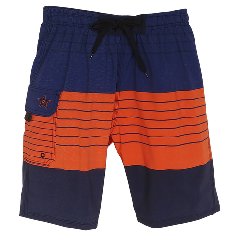 Beachcomber Navy/Orange Husky Board Shorts