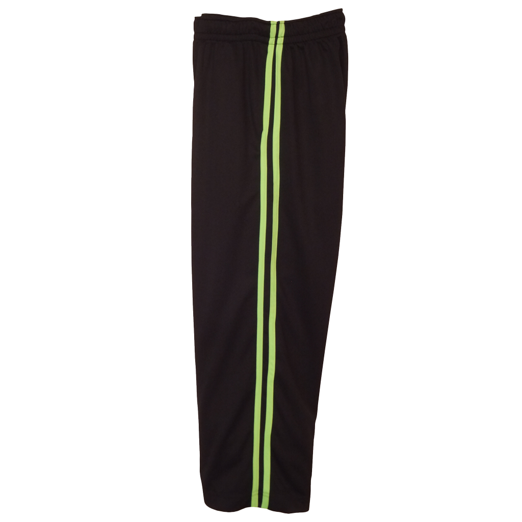 Black-Lime Boys Husky Athletic Pants