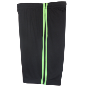 Black-Lime Boys Husky Athletic Shorts