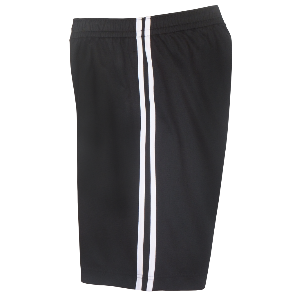 Black-White Boys Husky Athletic Shorts