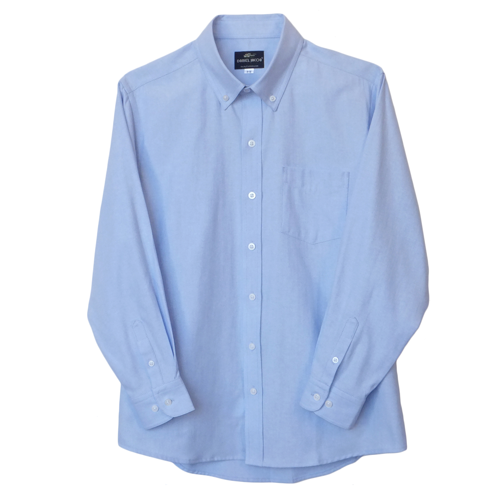 Blue Husky Wrinkle Resistant Oxford Shirt