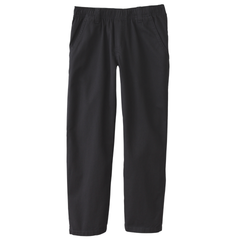 Classic Black Twill Pants Full Elastic