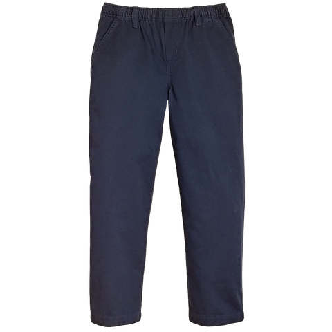 Classic Navy Twill Pants Full Elastic