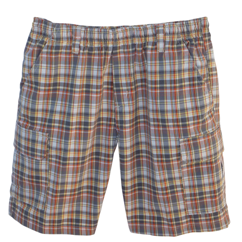 Dandelion Plaid Cargo Shorts Full Elastic