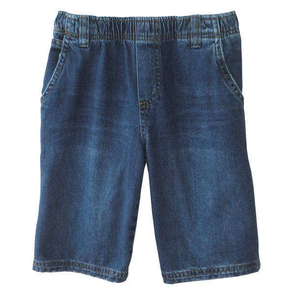 Distressed Denim Carpenter Shorts Full Elastic