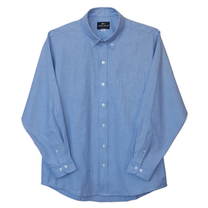 French Blue Husky Wrinkle Resistant Oxford Shirt